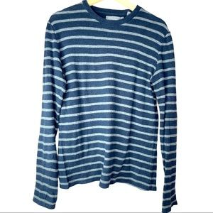 Men's Vince Striped Thermal Pullover 100% cotton S